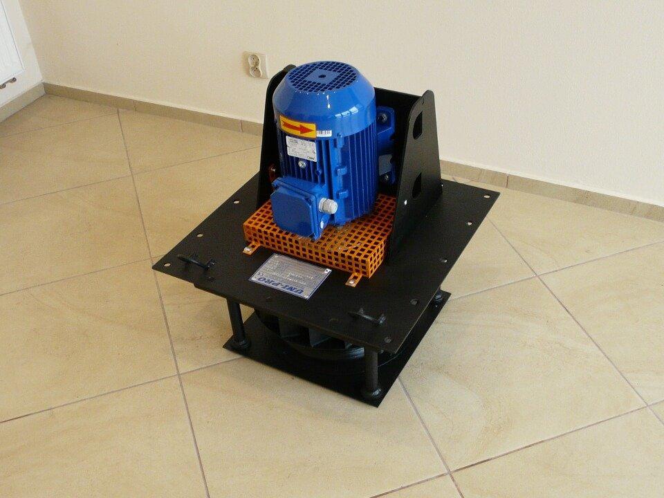 Wentylator przemysłowy promieniowy czarny